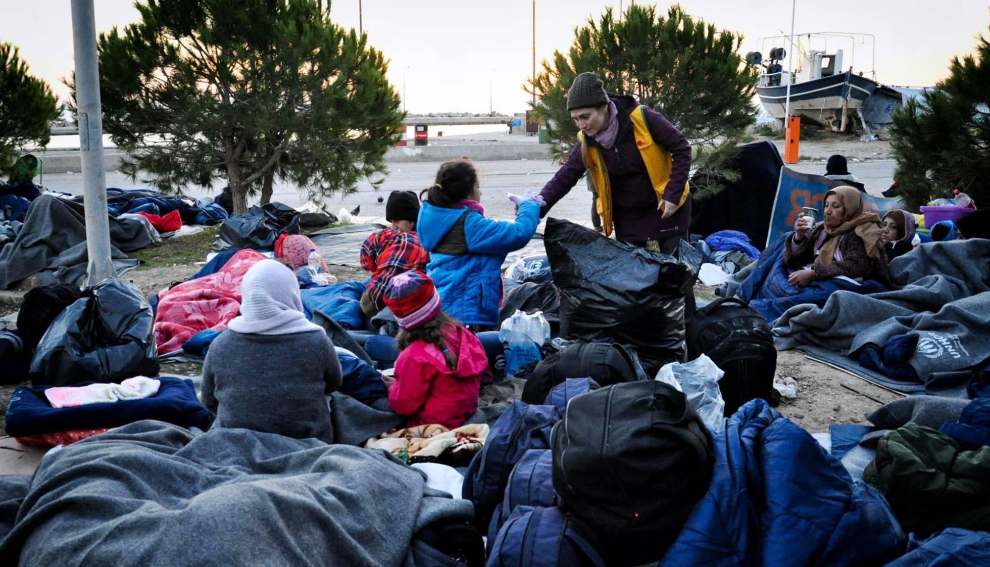Refugiados en el campo de refugiados de la isla de Chios (Grecia). PANTELIS FYKARIS AFP