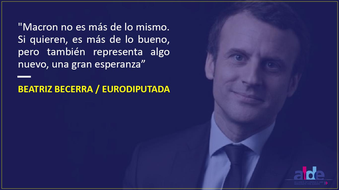 Macron Beatriz Becerra