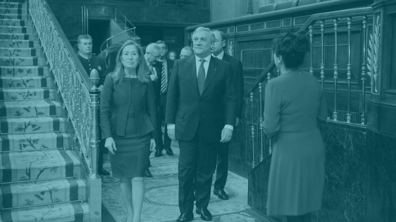 Antonio Tajani en el Congreso de los Diputados. Beatriz Becerra