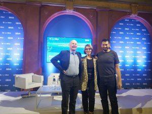 afael Yuste, Beatriz Becerra y Blaise Aguera